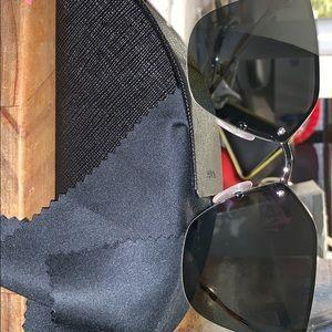 Prada cat eye aviator sunglasses